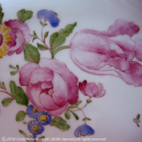 Motivo a fiori europei, da originale Ferretti Lodi, particolare, 2001